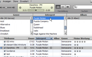 Listening to Purple Motion in iTunes :)