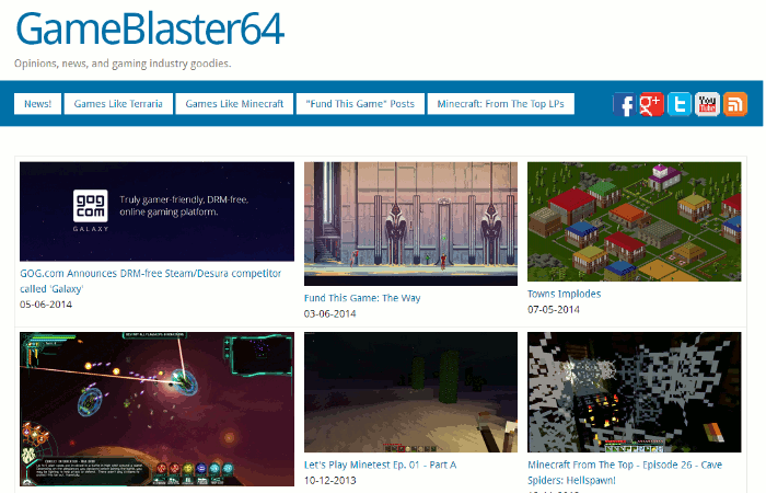 GameBlaster64 Front Page