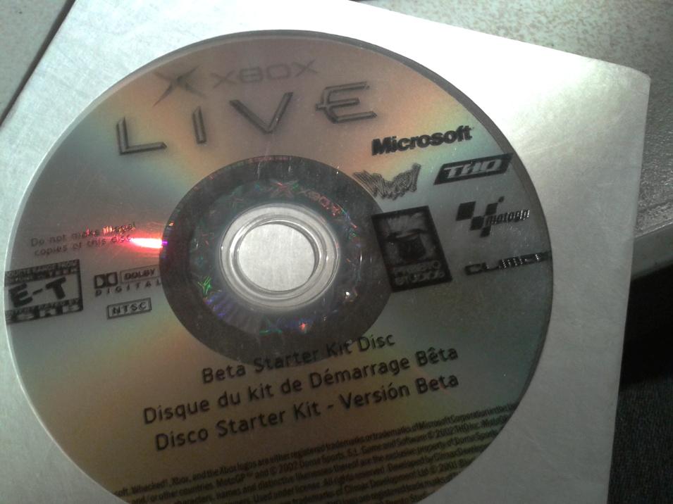 Xbox Live Beta Test Discs