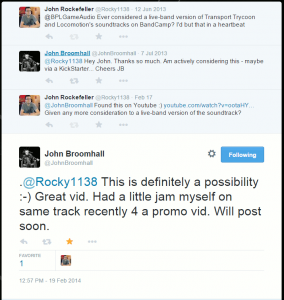 Conversation on Twitter with John Broomhall