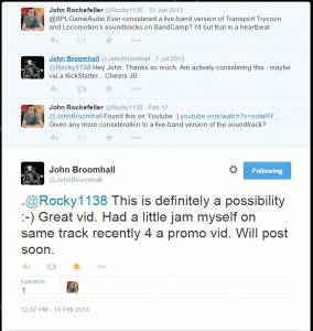 Conversation on Twitter with John Broomhall